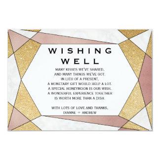 Bezaubernde geometrische Diamant-Hochzeit, die gut 8,9 X 12,7 Cm Einladungskarte