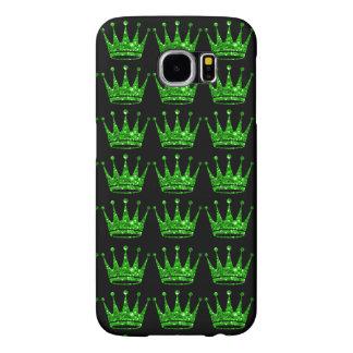 Bezaubernde Glittery grüne Krone Samsung rufen