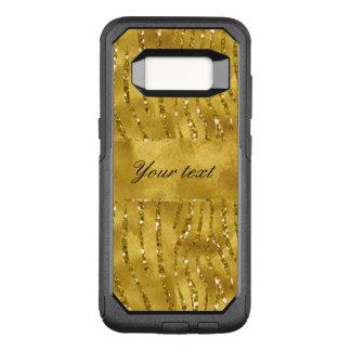 Bezaubernde Imitat-GoldGlitterzebra-Streifen OtterBox Commuter Samsung Galaxy S8 Hülle