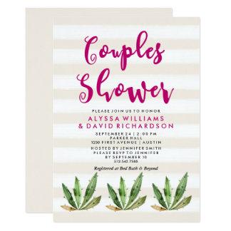 Bezaubernde Kaktus-Paar-Dusche Karte