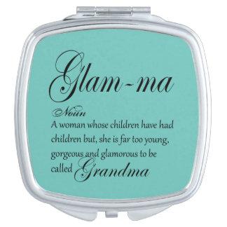 BEZAUBERNDE MA-Großmutterdefinition Taschenspiegel