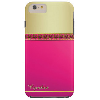 Bezaubernde rosa und Goldtone iPhone 6 Plusfall Tough iPhone 6 Plus Hülle