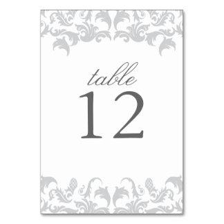 Bezaubernde silberne Tischnummer