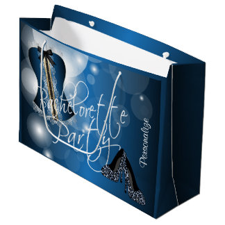 Bezaubernde Wäsche Bachelorette | blaues Bokeh Große Geschenktüte