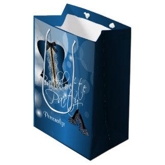 Bezaubernde Wäsche Bachelorette | blaues Bokeh Mittlere Geschenktüte