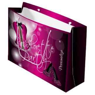 Bezaubernde Wäsche Bachelorette |Hot rosa Bokeh Große Geschenktüte
