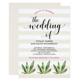 Bezaubernde Wedding Wüsten-Streifen des Kaktus-  Karte