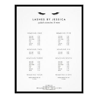 Bezaubernde Wimper-klassisches Schwarzweiss 21,6 X 27,9 Cm Flyer