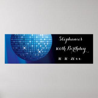Bezaubernder 100. Geburtstags-blauer Poster