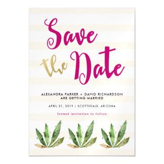 Bezaubernder Kaktus, der Save the Date Wedding ist Magnetische Karte