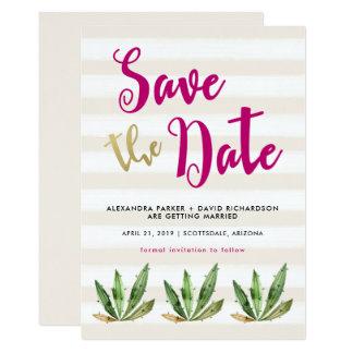 Bezaubernder Kaktus Save the Date Karte