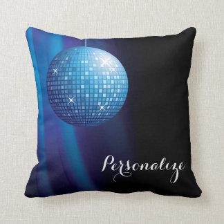 Bezaubernder personalisierter blauer Disco-Ball Kissen