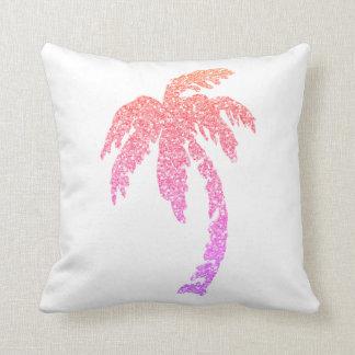 Bezaubernder rosa Palme-weißer Kissen-Kissen-Wurf Kissen