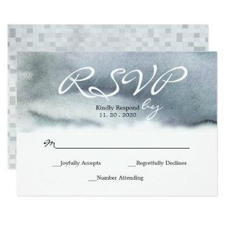 Bezauberndes blaues Grau erröten 8,9 X 12,7 Cm Einladungskarte