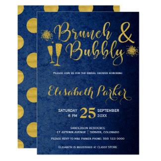 Bezauberndes Brautparty des Brunch und der 12,7 X 17,8 Cm Einladungskarte