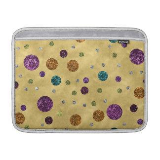 Bezauberndes Glitter-Polka-Punkt-Gold Sleeve Fürs MacBook Air