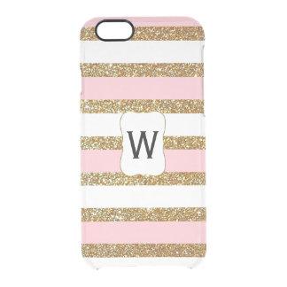 Bezauberndes Gold Stripes klaren iPhone 6 Kasten Durchsichtige iPhone 6/6S Hülle