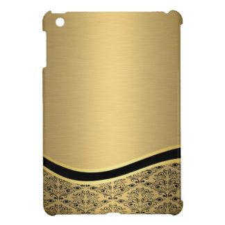 Bezauberndes goldenes Damastluxusmonogramm iPad Mini Hülle