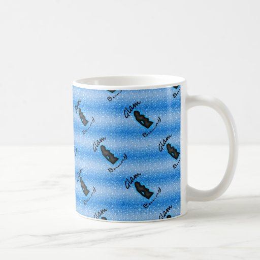 Bezauberndes Häschen-Logo auf Imitat-blauem Glitte Tasse