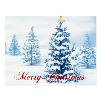 Bezauberndes Weihnachten Postkarte