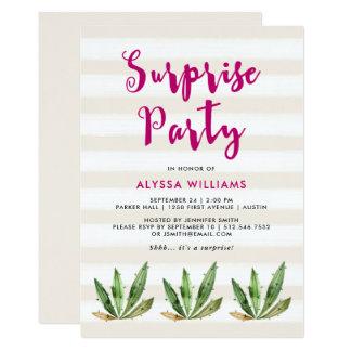 Bezauberndes Wüsten-Streifen-Überraschungs-Party Karte