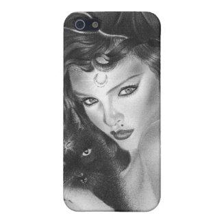 Bezauberter schwarzer Kitty Speck-Kasten iPhone 5 Hüllen