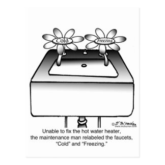 Bezeichnen Sie die kalten Hähne u. das Einfrieren Postkarte