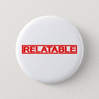 Beziehbare Briefmarke Runder Button 5,1 Cm