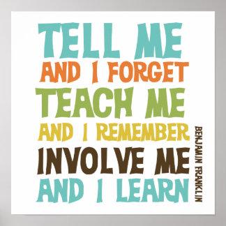 Beziehen Sie mich inspirierend Zitat mit ein Poster