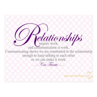 Beziehungen und Kommunikation Postkarte