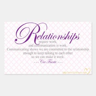 Beziehungen und Kommunikation Rechteckiger Aufkleber