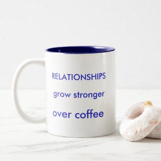 BEZIEHUNGEN wachsen stärker über Kaffee 11 Zweifarbige Tasse