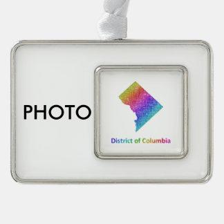 Bezirk Columbia Rahmen-Ornament Silber