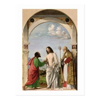 Bezweifeln von Thomas mit St. Magnus, c.1504-05 Postkarte
