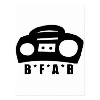 BFAB ~ geboren von einem boombox Postkarte