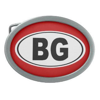 BG Bowling Green Kentucky Ovale Gürtelschnalle