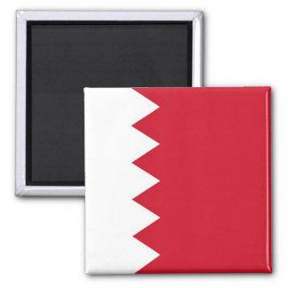 BH - Bahrain - Flagge Quadratischer Magnet