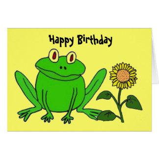 BH, lustige Frosch-Geburtstags-Karte Grußkarte