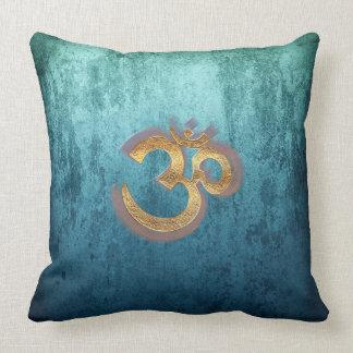 BH OMKARA des OM blaues Kissen-Yoga homedecoration Zierkissen