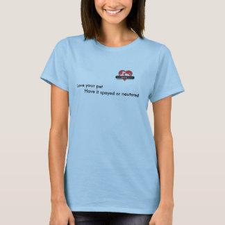 BHS 2 Logo, Liebe Ihr Haustier       haben es T-Shirt