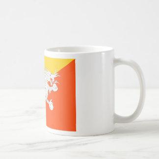 Bhutan-Flagge Kaffeetasse
