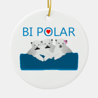 Bi-Eisbären Keramik Ornament