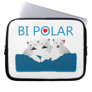 Bi-Eisbären Laptopschutzhülle