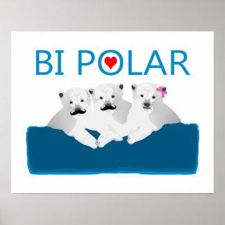 Bi-Eisbären Poster