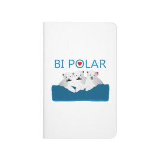 Bi-Eisbären Taschennotizbuch