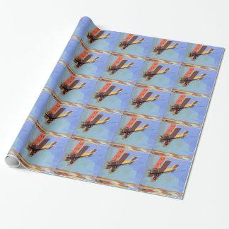 Bi-Flugzeug Vintag Geschenkpapier