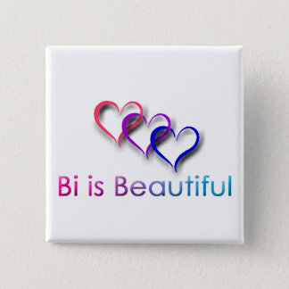 Bi ist schöner Knopf Quadratischer Button 5,1 Cm