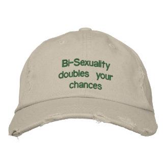 Bi-Sexualität verdoppelt Ihre Möglichkeiten Bestickte Mützen