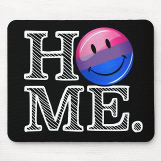 Bi-sexueller Flaggen-smileyHousewarming Mousepad