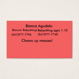 Bianca Agudelo, Biancas Babysitting! , (541) 977… Visitenkarte